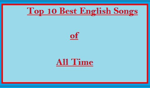 Top 10 english songs