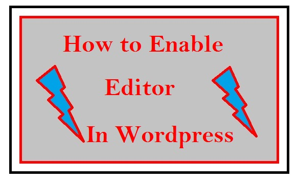 How To Enable Editor in your Website
